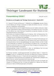 Einnahmen und Ausgaben der Thüringer Kommunen im 1. Quartal ...