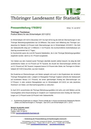Positive Bilanz für das Thüringer Winterhalbjahr 2011/2012