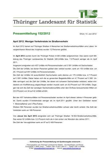 April 2012 - Thüringer Landesamt für Statistik