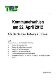 Statistischen Informationen - Thüringer Landesamt für Statistik ...