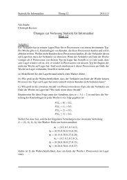 ¨Ubungen zur Vorlesung Statistik für Informatiker Blatt 12