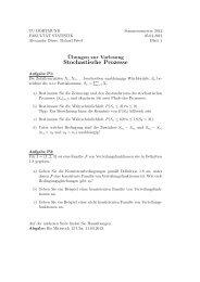 Stochastische Prozesse - TU Dortmund