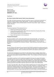 3 April 2012 Bernie Cusack Sellick Consultants 18 ... - Dhcs.act.gov.au