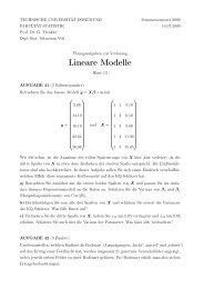 Blatt 13 - Fakultät Statistik
