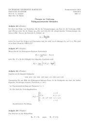 Blatt 11 - Fakultät Statistik