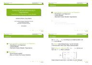 Vorlesung Wissensentdeckung in Datenbanken - Fakultät Statistik