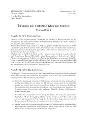 Blatt 1 - Fakultät Statistik - TU Dortmund