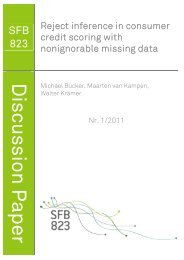 SFB 823 - TU Dortmund