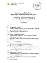 Programm - Fakultät Statistik - TU Dortmund