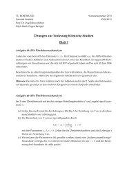 Blatt 7 - Fakultät Statistik - TU Dortmund