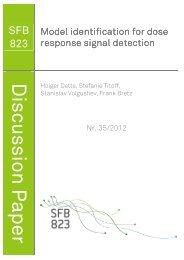 Model identification for dose response signal detection - Fakultät ...