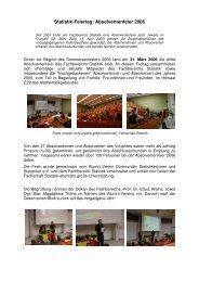 Statistik-Feiertag: Absolventenfeier 2006 - Fakultät Statistik