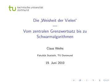 """Die """" Weisheit der Vielen"""" - Fakultät Statistik - TU Dortmund"""