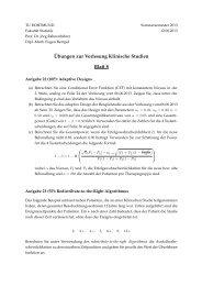 Blatt 8 - Fakultät Statistik - TU Dortmund