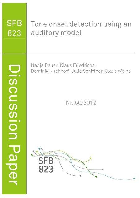 Tone Onset Detection Using an Auditory Model - TU Dortmund