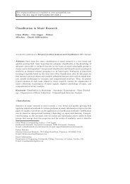Classification in Music Research - CiteSeerX