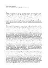 PLATON, SYMPOSION REDE ARISTOPHANES (DER KUGELMENSCH)