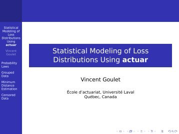 actuar - The R Project for Statistical Computing