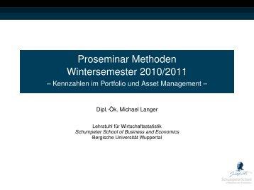 Kennzahlen im Portfolio und Asset Management - Lehrstuhl für ...