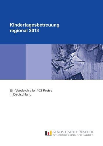 Kindertagesbetreuung regional 2012 - Statistisches Bundesamt
