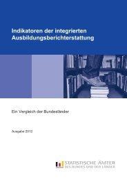 Indikatoren der integrierten Ausbildungsberichterstattung