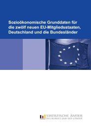 Sozioökonomische Grunddaten für die zwölf neuen EU ...