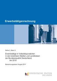 Erwerbstätige in Vollzeitäquivalenten in den ... - Statistische Ämter