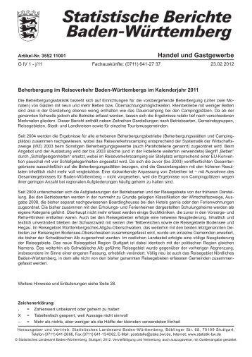 G IV 1-j Beherbergung im Reiseverkehr im Kalenderjahr 2011