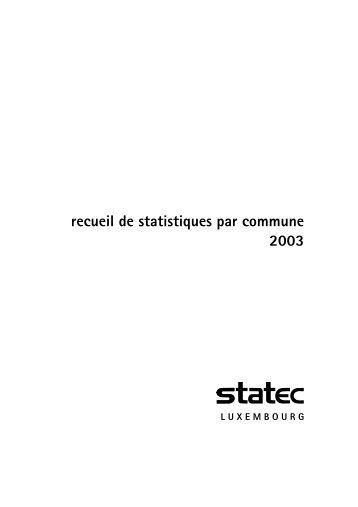 recueil de statistiques par commune 2003 - Portail des statistiques