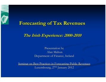 Forecasting of Tax Revenues