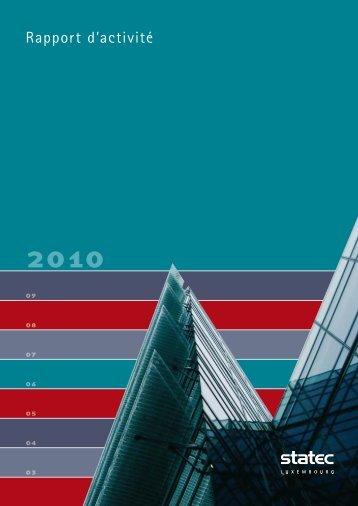 Statec rapport d'activité 2010 (pdf - 1143 Ko) - Portail des statistiques
