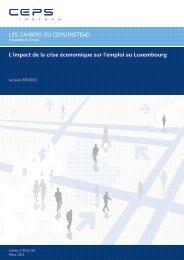 L'impact de la crise économique sur l'emploi au Luxembourg.