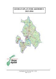 GEODATAPLAN FOR AKERSHUS 2013-2016 - Kartverket