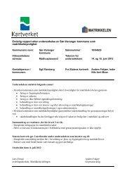 Tilsynsrapport matrikkel - Kartverket