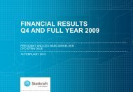 FINANCIAL RESULTS Q4 AND FULL YEAR 2009 - Statkraft