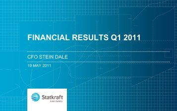 FINANCIAL RESULTS Q1 2011 - Statkraft