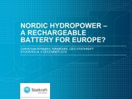 nordic hydropower – a rechargeable battery for europe? - Statkraft