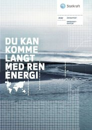 DU KAN KOMME LANGT MED REN ENERGI - Statkraft