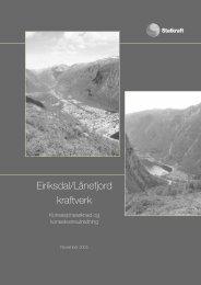 Eriksdal/Lånefjord kraftverk - Statkraft