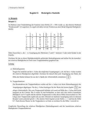 Deskriptive Statistik: De nitionen & Eigenschaften - fab 4 book