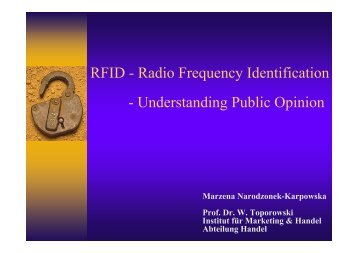 RFID - Radio Frequency Identification - Understanding Public Opinion
