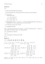 Statistik, Lösungen 1 Kapitel 10 [ 1 ] a) Mit einem Chi-Quadrat ...