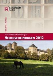 Neuerscheinungen 2012 - Aschendorff