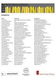 Deltagerliste - Statsbiblioteket