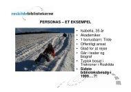 PERSONAS – ET EKSEMPEL • Isabella, 35 år ... - Statsbiblioteket
