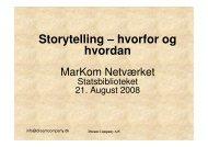 Storytelling – hvorfor og hvordan - Statsbiblioteket