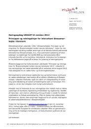Retningslinjer for det interurbane lånesamarbejde ... - Statsbiblioteket