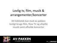 Lovlig tv, film og musik - Statsbiblioteket
