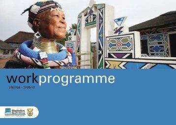 Work Programme 2007/08-2009/10 - Statistics South Africa