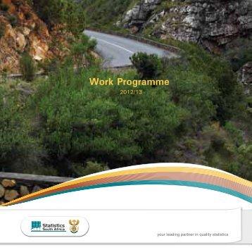 Work Programme - Statistics South Africa